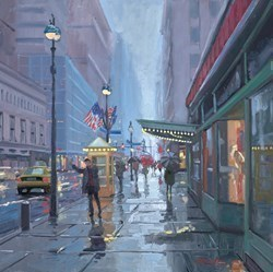 Grand Central Station, New York II by Charles Rowbotham -  sized 18x18 inches. Available from Whitewall Galleries